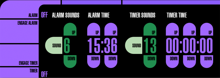 Alarm and Timer Controls
